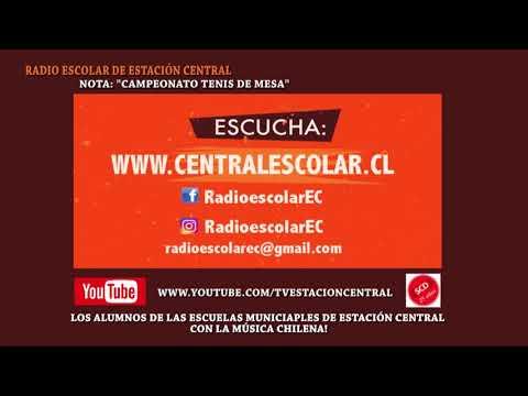 RADIO ESCOLAR DE ESTACIÓN CENTRAL NOTA TENIS DE MESA