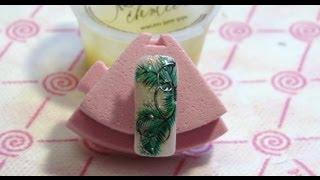 Дизайн ногтей: Еловые ветки. Дизайн акриловыми красками.(Рисуем еловые ветки акриловыми красками. Дизайн на новый год. Не сложный, но кропотливый дизайн на ногтях...., 2012-12-10T06:12:39.000Z)