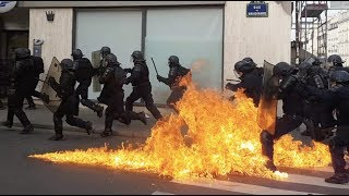 Gilets jaunes Acte 13 : affrontements, tensions et blessé grave (10 février 2019, Paris)
