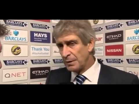 Manuel Pellegrini Post Match interview Man City 1 vs 0 Man Utd Post Match Interview