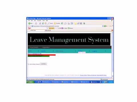 Employee leave management system using php with source code.
