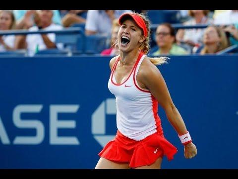 Eugenie Bouchard vs. Dominika Cibulkova US OPEN 2015 (ROUND 3)