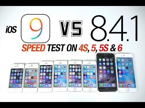 iOS 9 VS iOS 8.4.1 Speed Test on iPhone 6, 5S, 5 & 4S - Is iOS 9 Faster?
