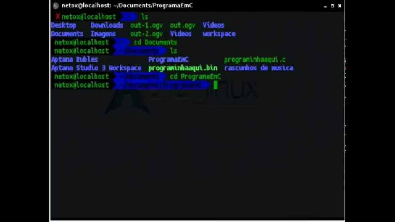 Como Executar Um Programa Em C No Linux Youtube