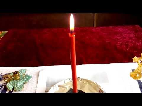 Чистка, этап возжигания красной свечи
