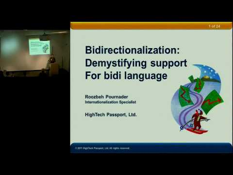 IMUG Presents: Demystifying Bidi: Bidirectional Languages in Software and Web Apps