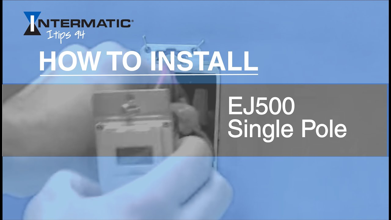 How to Install the EJ500 Single Pole Time Switch  YouTube