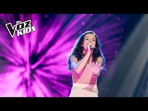Manu canta Chandelier - Audiciones a ciegas   La Voz Kids Colombia 2018