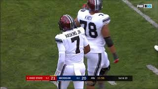 Highlights of ohio state's red-shirt freshman backup quarterback dwayne haskins versus michigan 2017