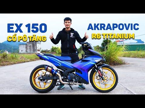 Exciter 150 Độ Pô Akrapovic R6 Titanium | Cổ Pô Tăng Đậm Chất DÂN CHƠI