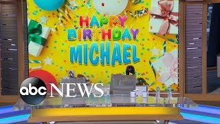 In celebration of Michael Strahan's birthday, Sara Haines paid a visit to some very special people for a surprise birthday message. SUBSCRIBE to GMA ...