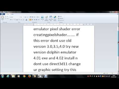 how to fix dolphin emulator pixel shader error creatingpixelshader..