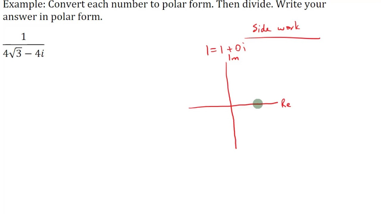 Dividing Complex Numbers in Polar Form - YouTube