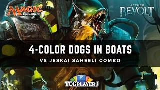 [MTG] 4-Color Dogs in Boats VS Jeskai Saheeli Combo | Aether Revolt Standard