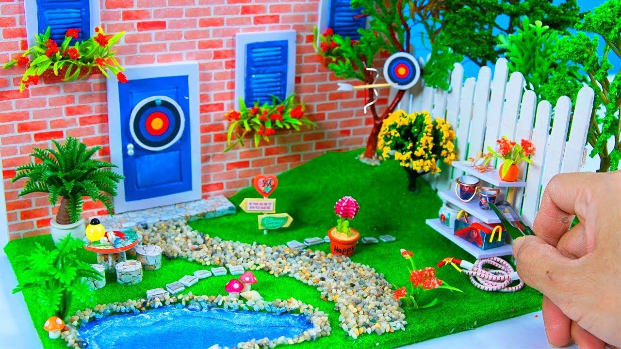 Diy Miniature Dollhouse Disney Merida Garden Decor 10 Minute