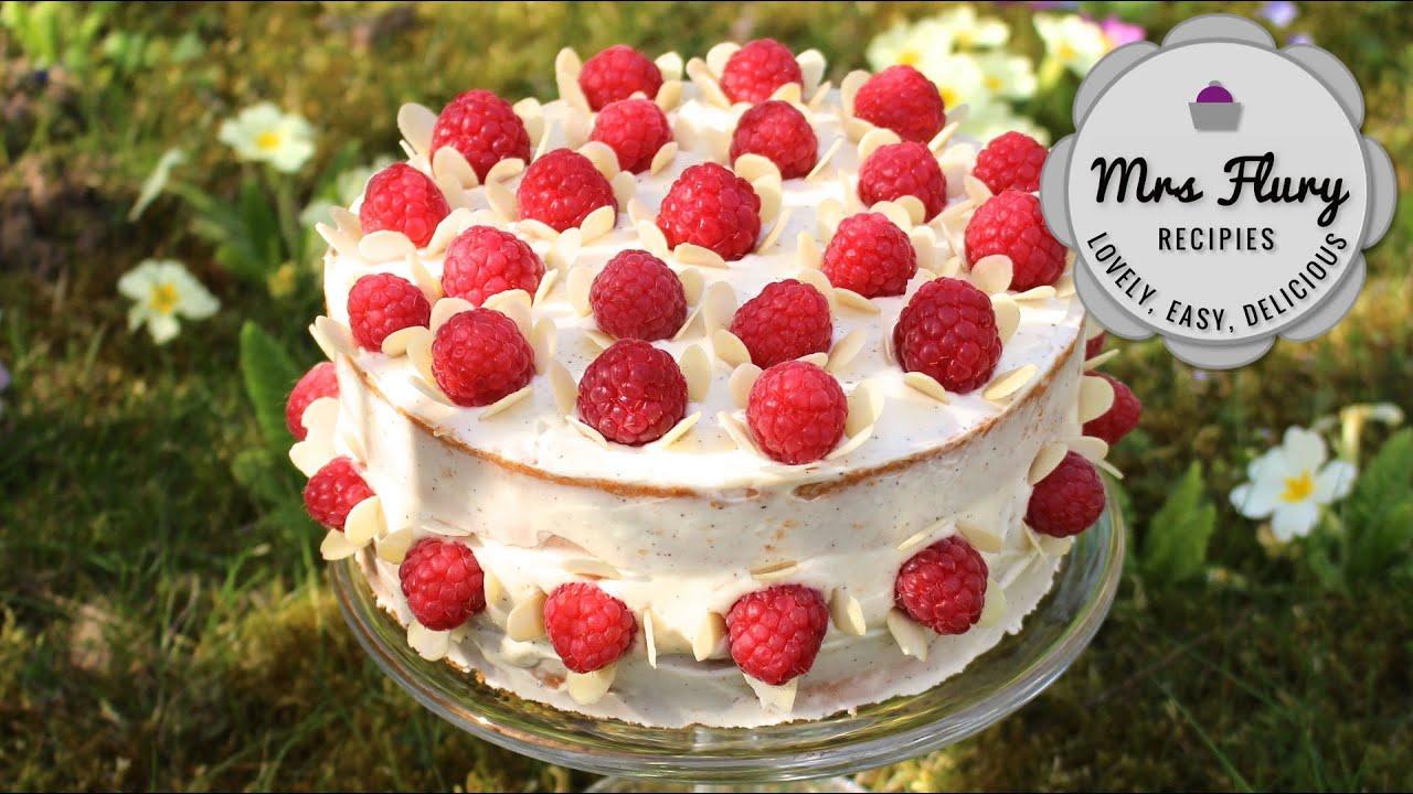 Himbeer Vanille Torte Fruchtig Und Leicht Backen Mit Mrs Flury