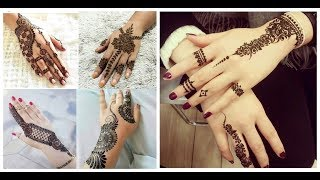Decent henna design for eid=new style mehndi design ideas 2018