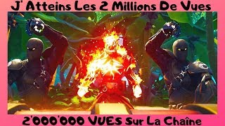 "FORTNITE We reach 2 MILLION Views On The Channel ""100 People - Contest 1000 V-Bucks"""