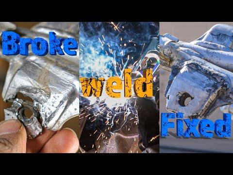 How To Fix A Broken Muffler Bracket On A TW200 Dual Sport