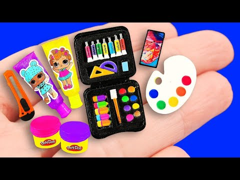 Видео: 65 DIY BARBIE HACKS ~ MINIATURE SCHOOL SUPPLIES!