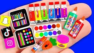 65 DIY Miniature School Supplies !