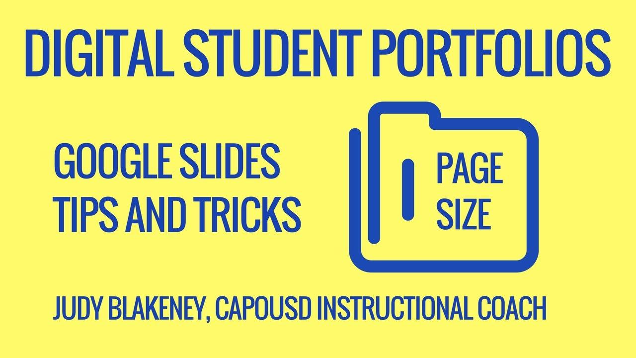 Digital Portfolio GSlides Page Size