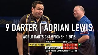 9 DARTER! | Adrian Lewis | World Darts Championship 2015