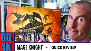 Mage Knight - Boardgames 4K Review - Still Worth it?