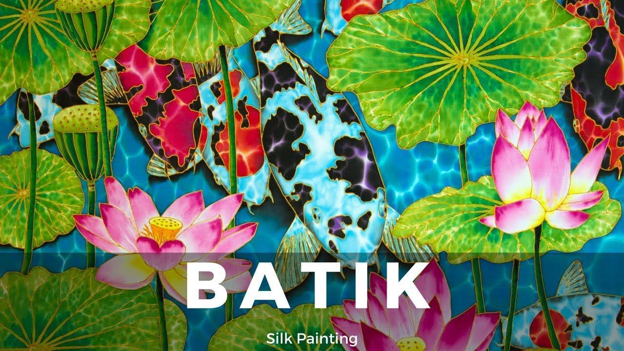 Batik silk painting with jean baptiste fine art koi lotus batik silk painting with jean baptiste fine art koi lotus izmirmasajfo