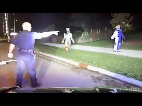 Creepy Clowns Arrest Caught On Police...