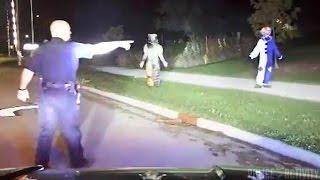 Creepy Clowns Arrest Caught On Police Dashcam