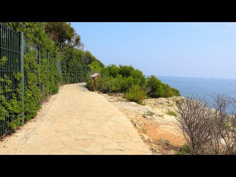 [4K] Saint-Jean-Cap-Ferrat - walking the Promenade des Fossettes (Tour de la Pointe Saint-Hospice)