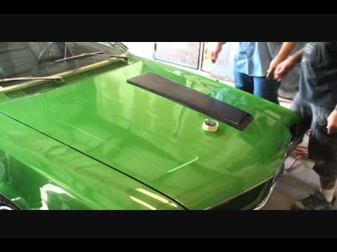 High Performance Muscle Car D I Y Hood Scoop Installation Making A