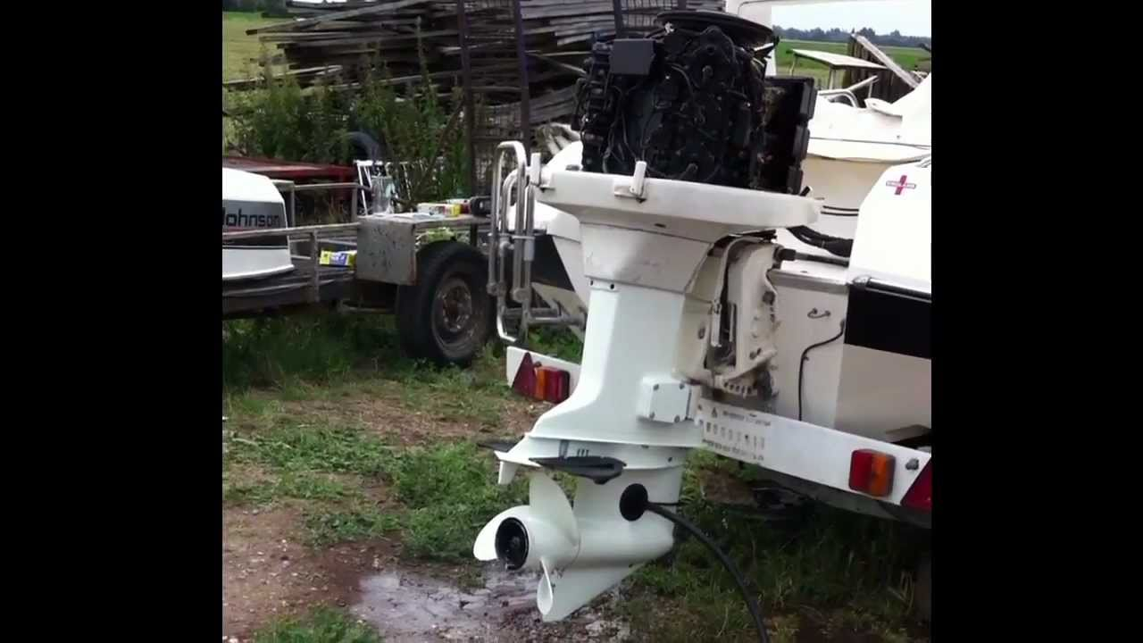 1987 johnson vro 150 v6 outboard running with water muffs for Johnson marine italia