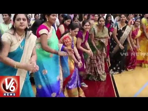 Charlotte Telangana Association Organise Bathukamma Celebrations In North Carolina | V6 USA NRI News