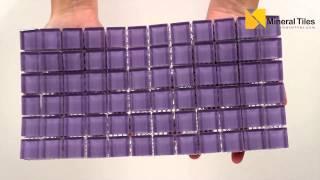 Glass Mosaic Tile Backsplash Violet 1x1 - 101CHIGLABR141