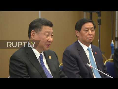 Kazakhstan: Putin jokingly calls Chinese president 'lone warrior' at Astana SCO meeting