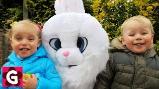 Easter Bunny visit Gaby and Alex. Easter Egg Hunt