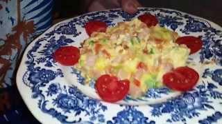 """Очень вкусныи и быстрыи завтрак для любимых: """"Яичница с помидорами"""""""