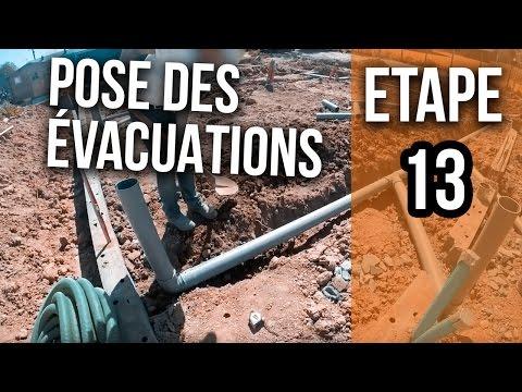 Pose Des évacuations EU Et WC - Etape 13