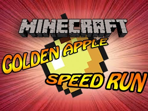 Minecraft: Golden Apple Speed Run - World Record with random seed - Found at 5:12