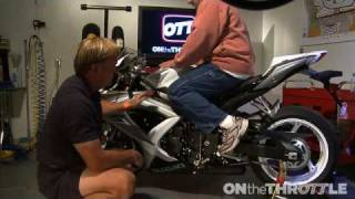 sportbike wrench adjusting foot controls