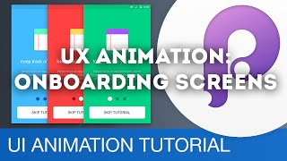 User Onboarding Screens • UI/UX Animations with Principle & Sketch (Tutorial)