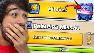 COMPLETEI MINHA PRIMEIRA MISSÃO NO CLASH ROYALE!