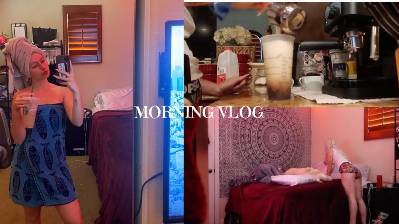 Morning Vlog | cleaning, making breakfast, shower, grwm