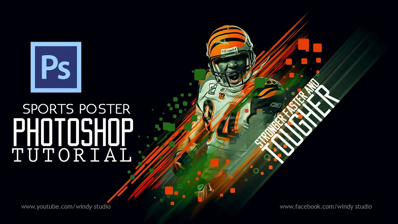 Photoshop Sports Designs: Sports Poster - YouTube