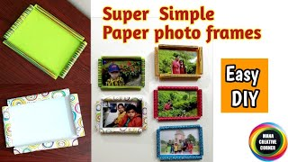 #Super Easy Paper#Photo Frame#craft idea for kids #DIY Paper photo frames/Picture Frame#art&craft