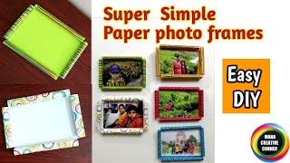 #Super Easy Paper#PhotoFrame#craftidea for kids #DIY Paper photo frames#PictureFrame#art&craft Video