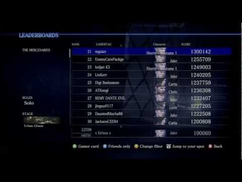 RE6: Mercs Leaderboard Losers/Hackers