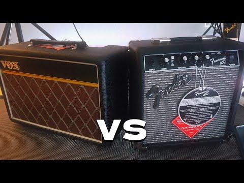 Vox Pathfinder 10 VS Fender Frontman 10G - 10 Watt Practice Amp Tone Comparison